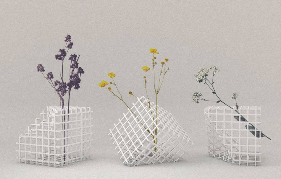 Plastic matte white                                                Decoration competition | winning designs Top designs Decoration Decoration Home Office 3D printed
