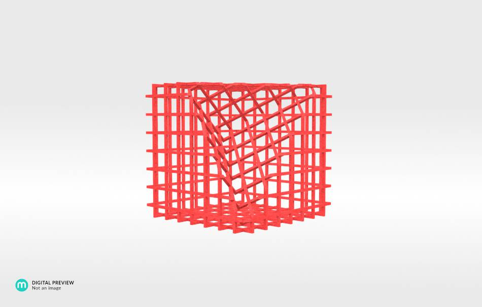 Plastic matte red                                                Decoration competition | winning designs Top designs Decoration Decoration Home Office 3D printed