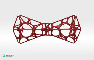 3D-Printed Bowtie - Plastic matte red