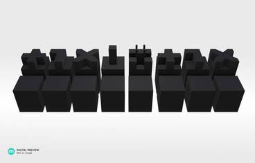 Architectural chess - Resin black