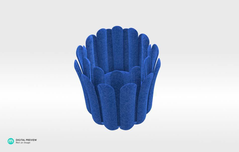Plastic matte blue                                                Decoration competition | winning designs Top designs Decoration Home 3D printed