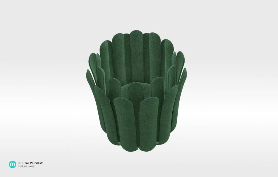 Plastic matte green                                                Decoration competition | winning designs Top designs Decoration Home 3D printed