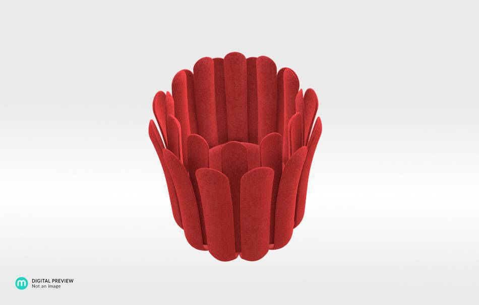 Plastic matte red                                                Decoration competition | winning designs Top designs Decoration Home 3D printed