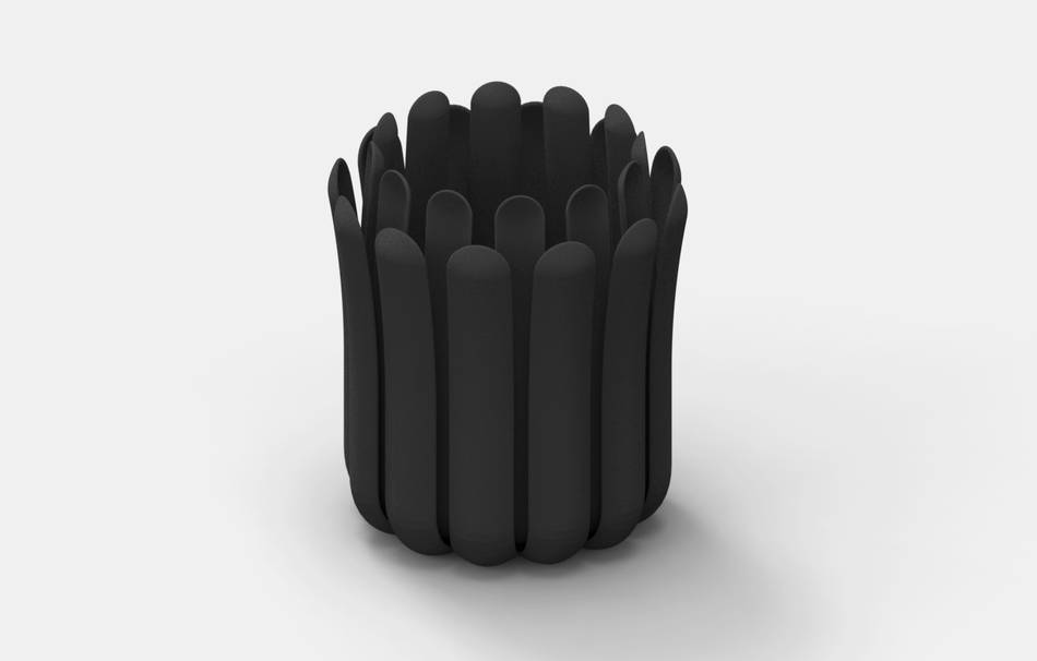 Plastic matte black                                                Decoration competition | winning designs Top designs Decoration Home 3D printed