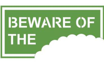 """Be aware of …"" sign - Acrylic glass 3mm green"