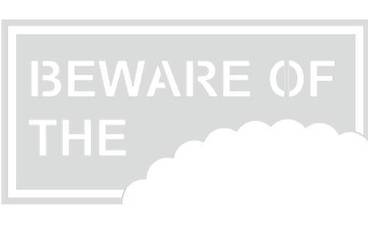 """Be aware of …"" sign - Acrylic glass 5mm colorless transparent"