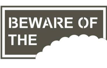 """Be aware of …"" sign - Acrylic glass 3mm black"