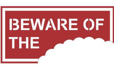 """""""Be aware of …"""" sign - Acrylic glass 3mm red"""