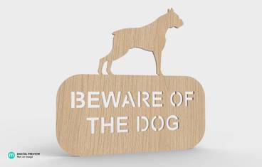 """Be aware of the dog!"" sign"