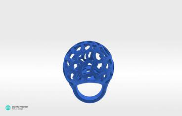 Beatriz Ring - Plastic matte blue