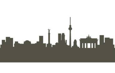 Berlin skyline - Acrylic glass 3mm black