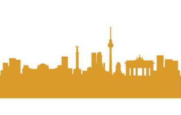 Berlin skyline - Acrylic glass 3mm orange