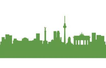 Berlin skyline - Acrylic glass 3mm green