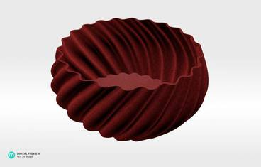 Candy bowl - Plastic matte red