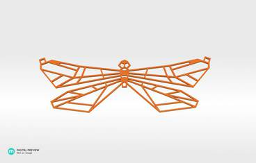 Butterfly Pendant - Organic plastic orange