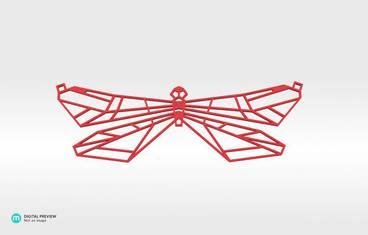 Butterfly Pendant - Plastic matte red