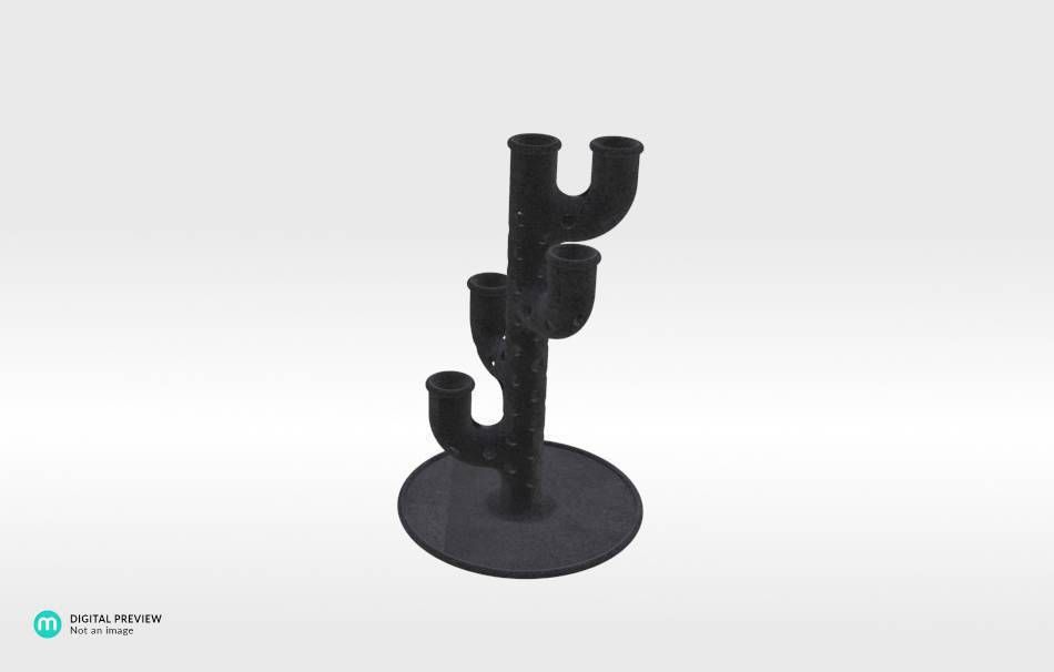 Plastic matte black                                                Decoration Home 3D printed
