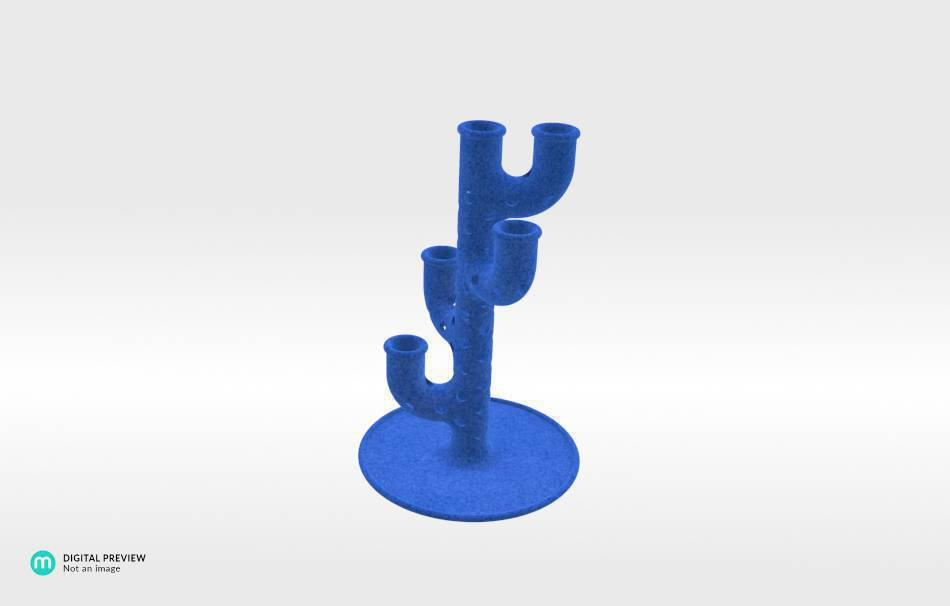 Plastic matte blue                                                Decoration Home 3D printed