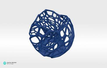 Cellular candle holder - Plastic matte blue