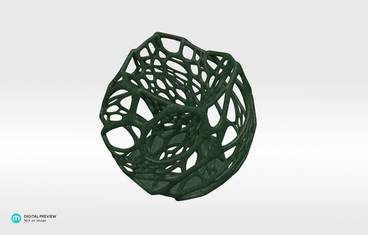 Cellular candle holder - Plastic matte green