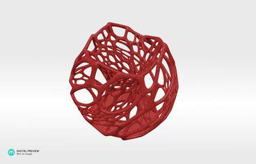 Cellular candle holder - Plastic matte red