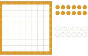 Checkers - Acrylic glass 3mm orange