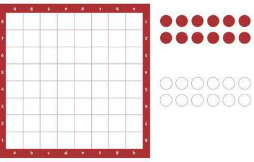 Checkers - Acrylic glass 3mm red