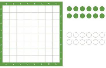 Checkers - Acrylic glass 3mm green