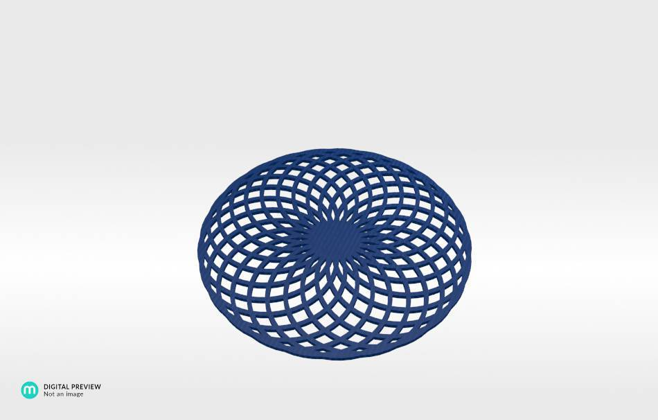 Organic plastic blue                                                Decoration Decoration Home Office Others Others 3D printed