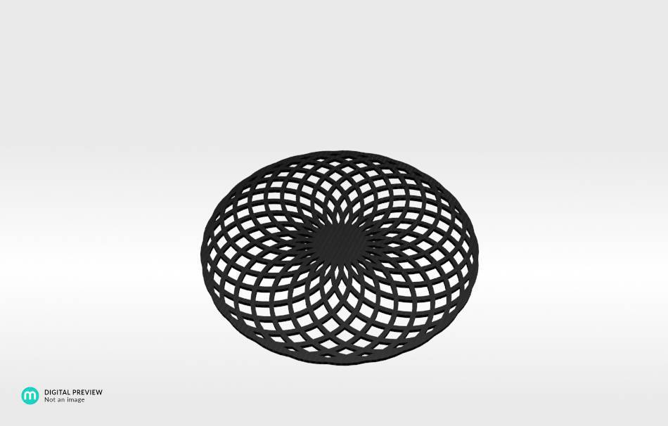 Organic plastic black                                                Decoration Decoration Home Office Others Others 3D printed