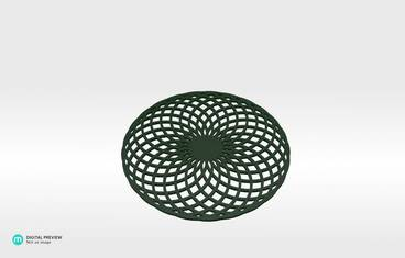 Circular lines coaster - Plastic shiny & sturdy green