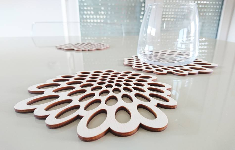 Wood pulp board 3mm natural color                                                Organizers Decoration Home Lasercut