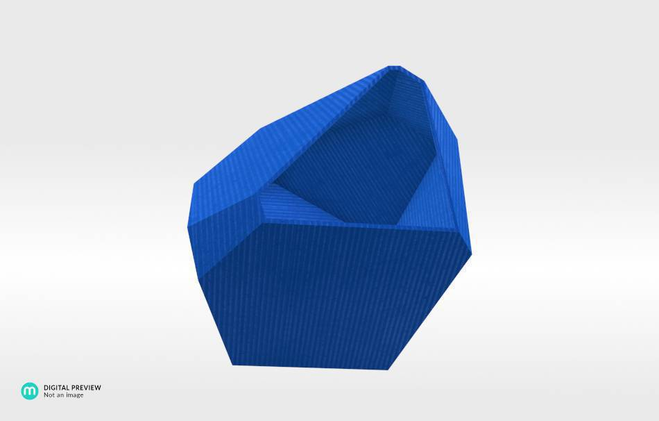Plastic shiny & sturdy blue                                                Decoration Home 3D printed