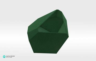 Crystal Planter - Plastic shiny & sturdy green