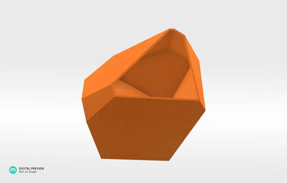 Plastic shiny & sturdy orange                                                Decoration Home 3D printed