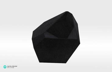 Crystal Planter - Organic plastic black