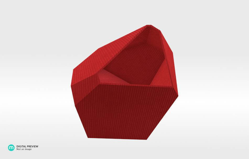 Organic plastic red                                                Decoration Home 3D printed