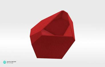 Crystal Planter - Organic plastic red