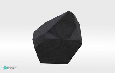 Crystal Planter - Plastic matte black