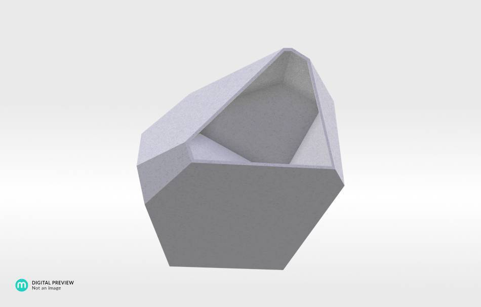 Plastic matte white                                                Decoration Home 3D printed