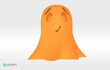 Cute ghost - Plastic shiny & sturdy orange