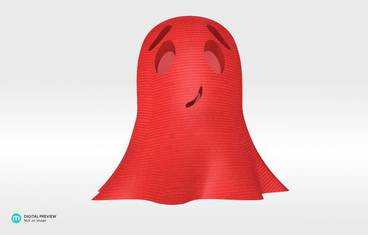 Cute ghost - Plastic shiny & sturdy red
