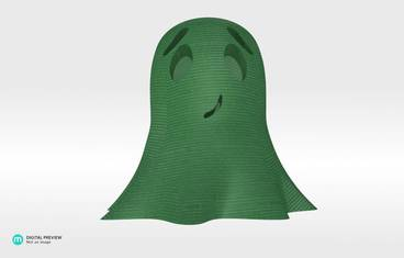 Cute ghost - Plastic shiny & sturdy green