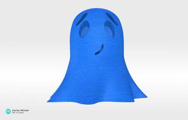 Cute ghost - Plastic shiny & sturdy blue