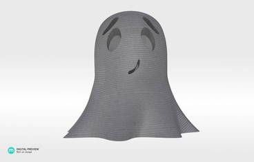 Cute ghost - Plastic shiny & sturdy grey