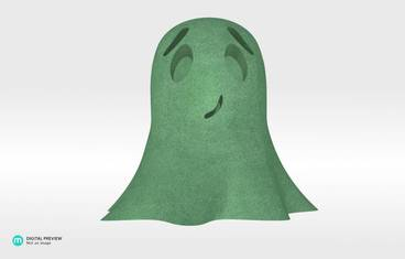 Cute ghost - Plastic matte green