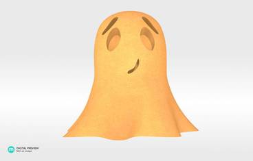Cute ghost - Sandstone orange