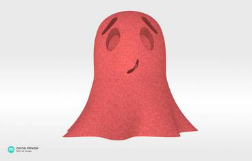 Cute ghost - Sandstone red