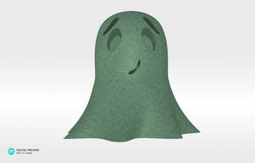 Cute ghost - Sandstone green