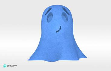 Cute ghost - Sandstone blue